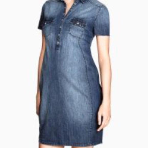 5ebcc083588f7 H&M Dresses | Hm Maternity Jean Dress | Poshmark